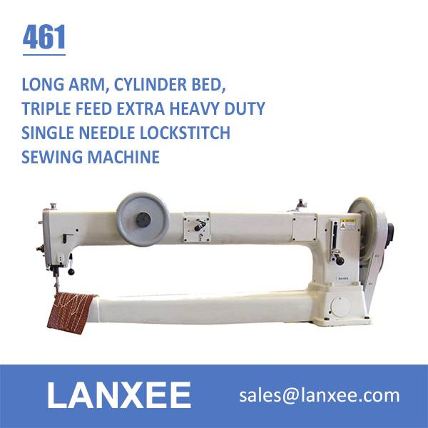 Lanxee 461 one needle cylinder bed heavy duty sewing machine