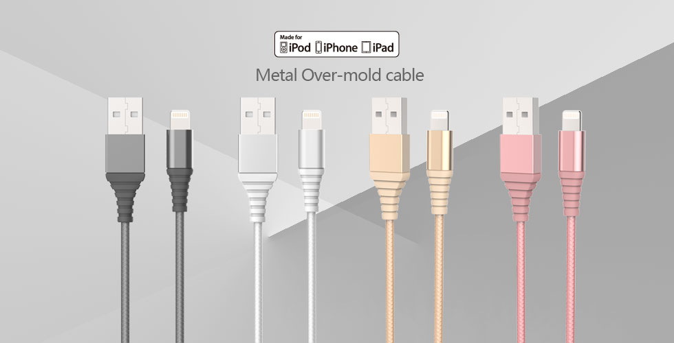 Metal Over-mold cable BW-CA40IP