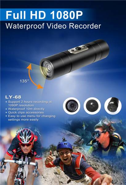 LY-68 1080P Full HD MINI sports camera/bullet camcorder LY-65FW
