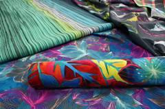 KW4004-2 Jacquard Fabric Beach Shorts, 4 Way Stretch Boardshorts Custom