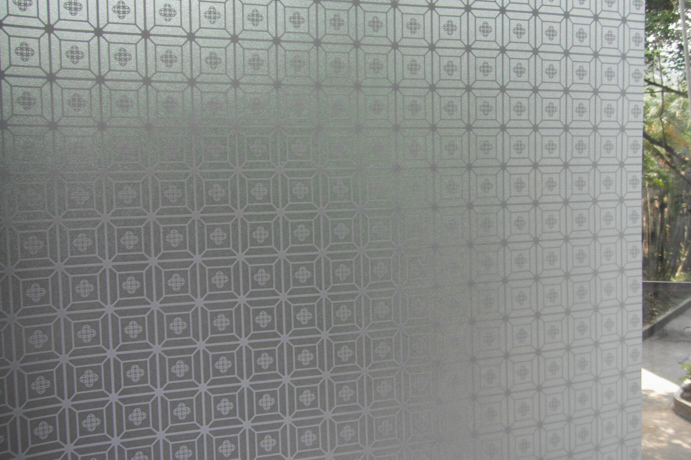 self-adhesive glass pvc laser window film