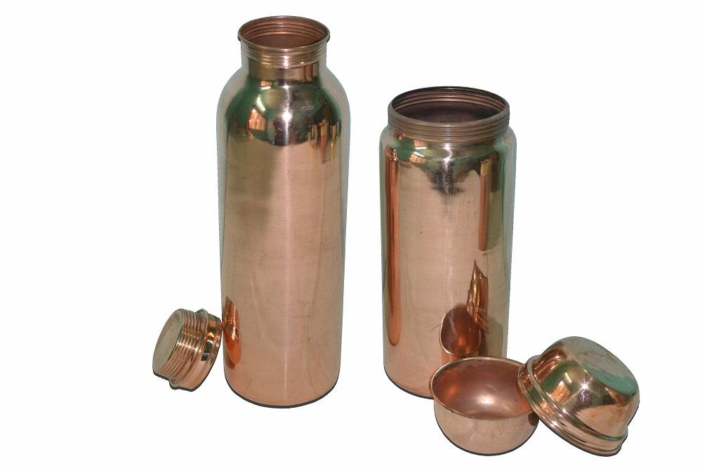 Raghav India 100% Genuine  joint less Copper Water Bottle set