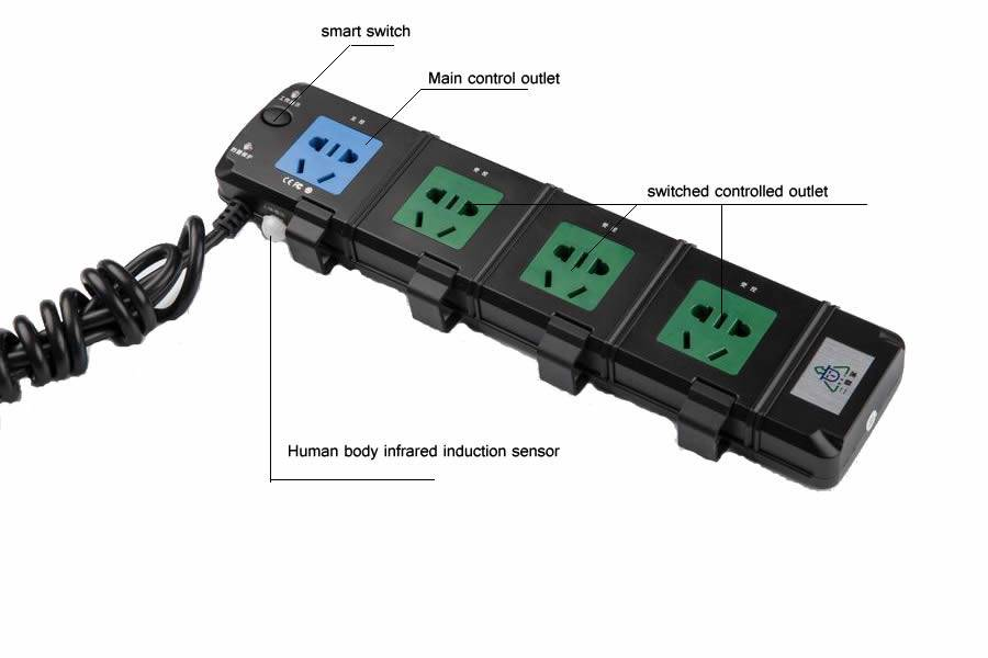 Computer pro smart power strip/ power socket