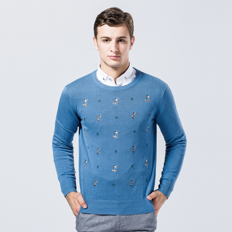 3 Colors Embroidery Men Sweater