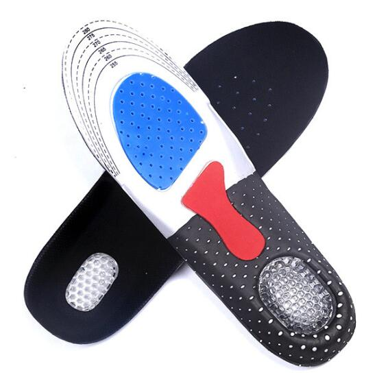 Sports insoles, shock absorbing insole, breathable sport insole with arch support