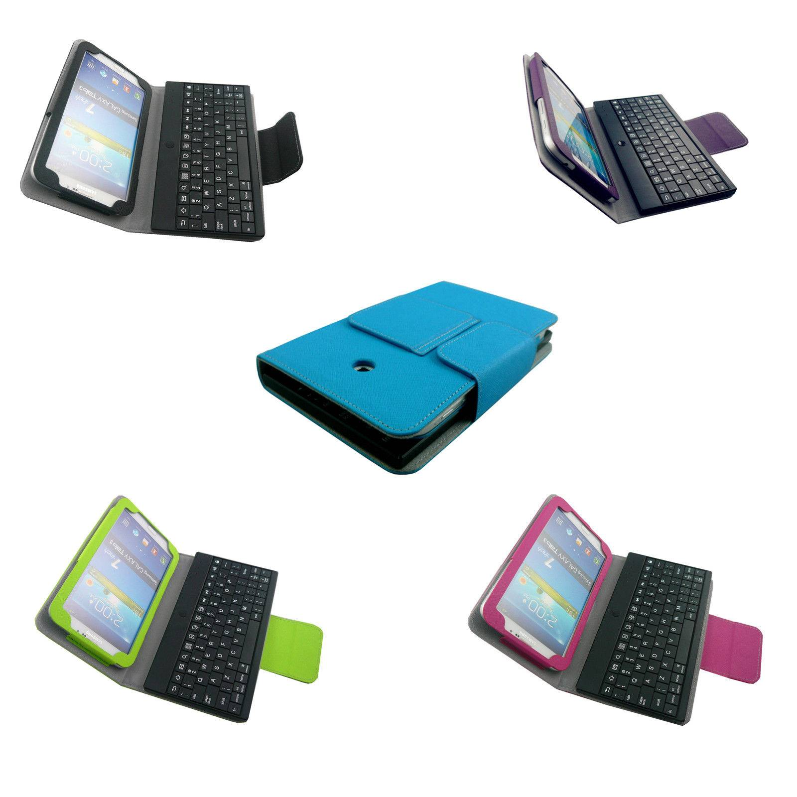 For Samsung Galaxy Tab3 7.0 7 inch Tablet Cover Bluetooth Keyboard Leather Case