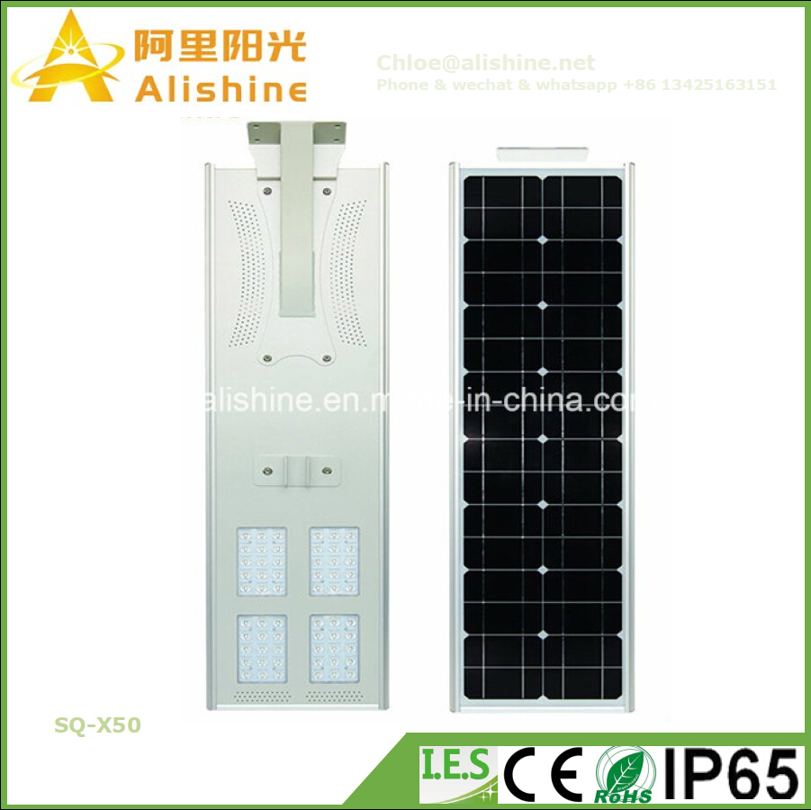 New 50W 3 Years Warranty All in One LED Solar Street Light Park Lamp