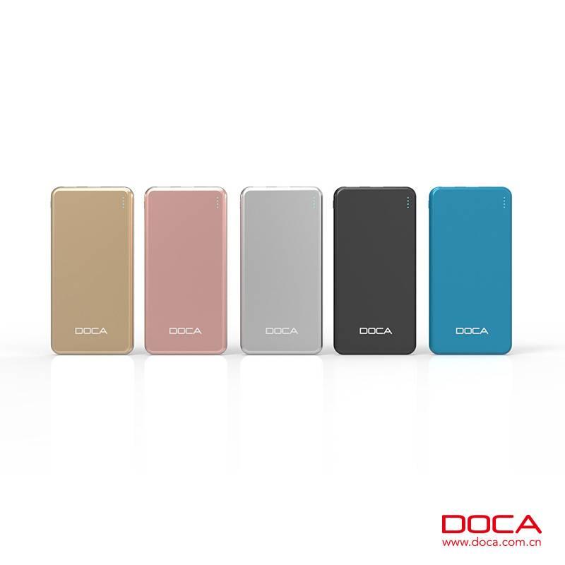 DOCA D607 Ultra-thin Power Bank 10000mah portable charger