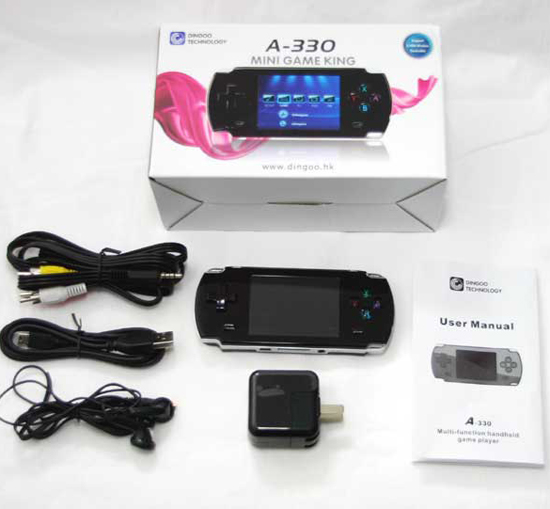 Handheld Game Player With MP3 MP4 Video FM TXT IMAGE TV OUT 4GB Multi-Function Player