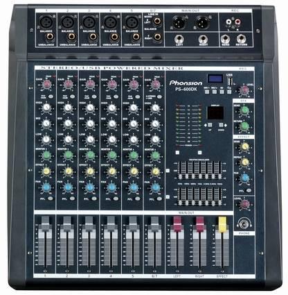 PS-600DK Professional Audio Mixer
