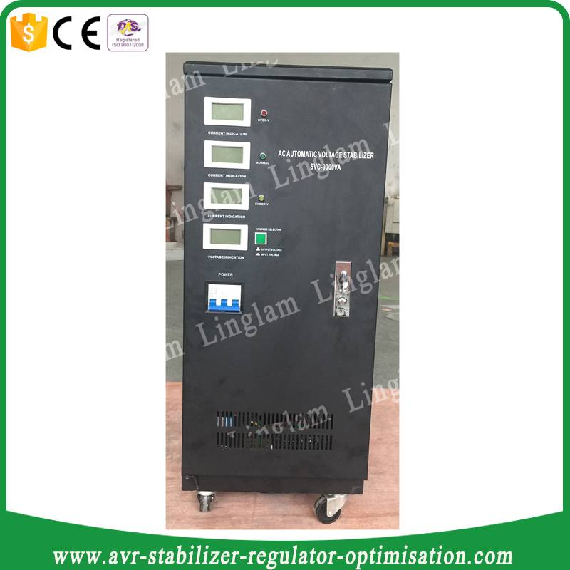 three phase servo type voltage stabilizer 9kw