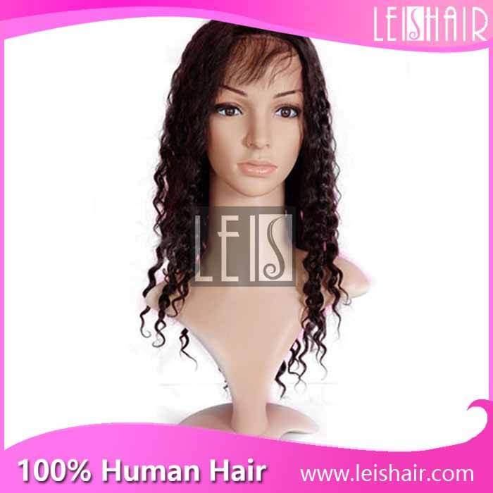 Factory price brazilian virgin remy hair curly full lace wig