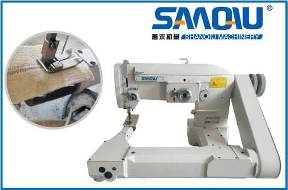 Filter bag sewing machine