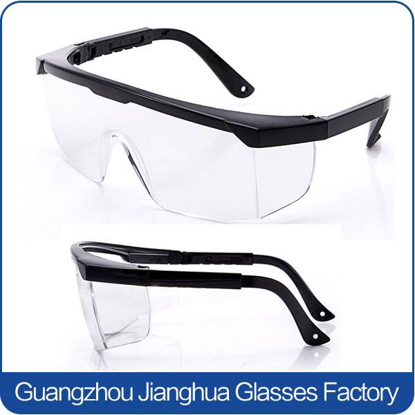 wholesale anti UV safety glasses in china PC Clear lens goggles
