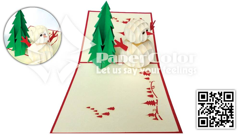 Christmas 3d Pop Up Card holiday greeting card