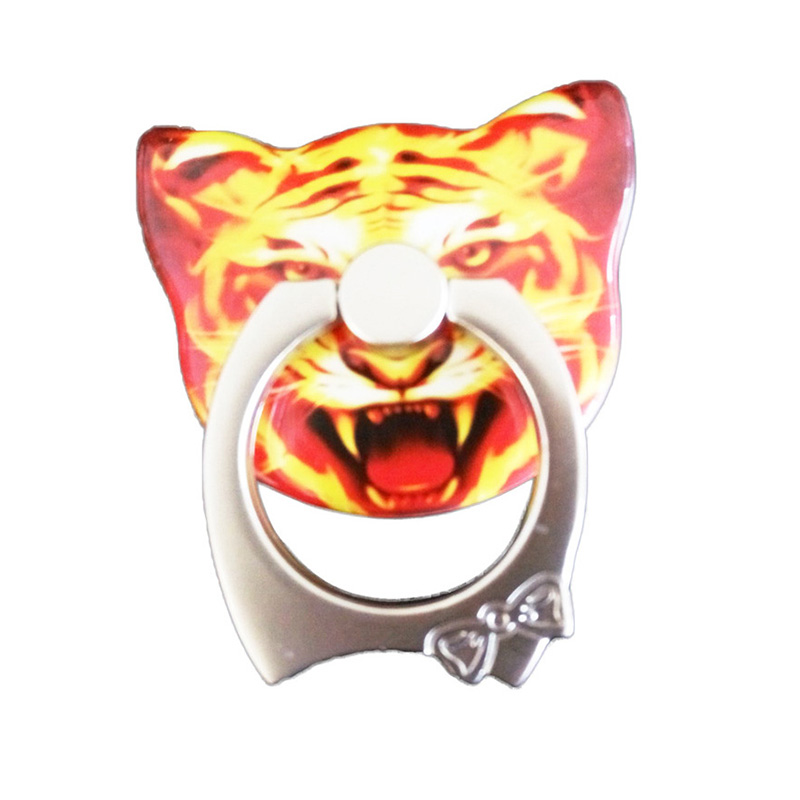 Tiger Cat Ring Holder 360 Degree Metal Cat Ring Holder for iPhone iPad