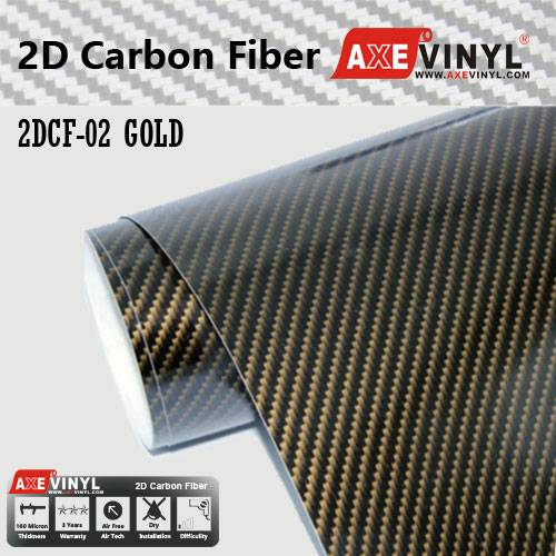 Axevinyl Factory Direct Sale Car Wrap Vinyl Premium Quality Black 2D Carbon Fiber Vinyl Wrap Film