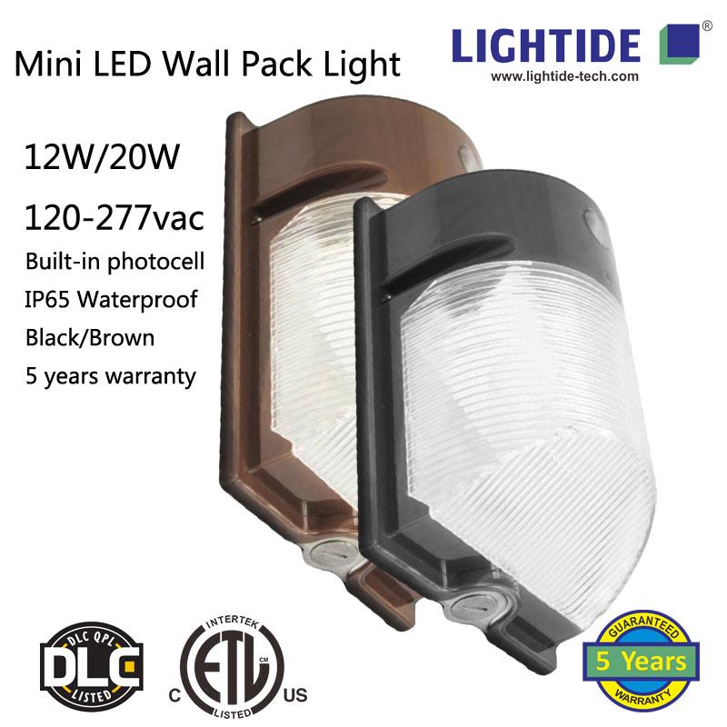 20w mini led wall pack, 100-277vac, 5 years warranty