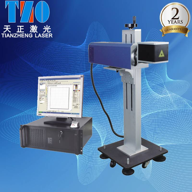 portable CO2 laser marking system with worktable