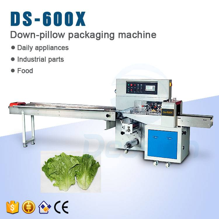CE Approved vegetable leaf lettuce flow wrapping machine