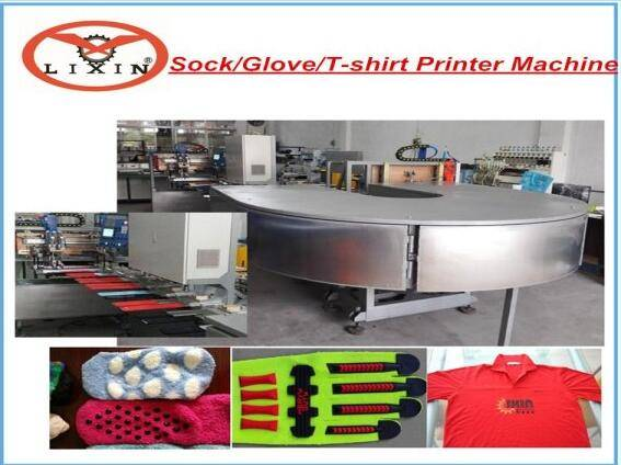 Automatic Printing Machine  for sock and gloves anti-slip coating