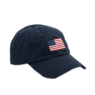 American Flag dark blue needlepoint baseball caps