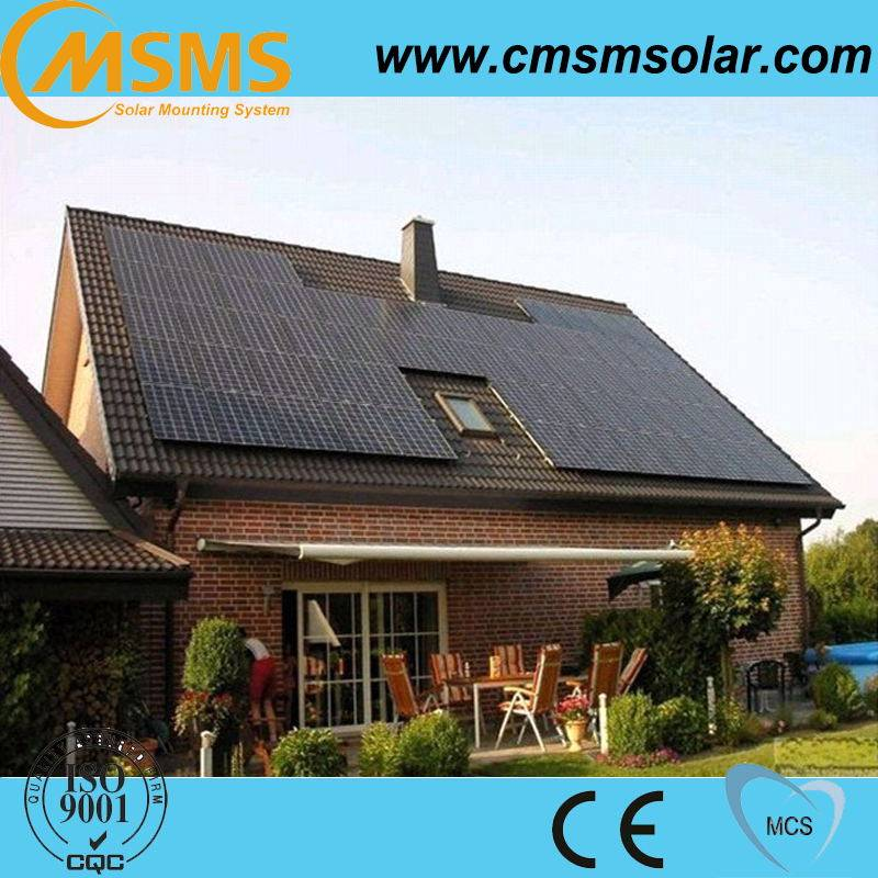 Easy roof mounted 5KW rooftop solar panel mounting system on grid with CE