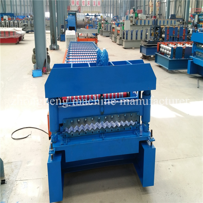Easy Operate Corrugated Roll Forming Machine / Corrugated Roofing Sheet Making Machine