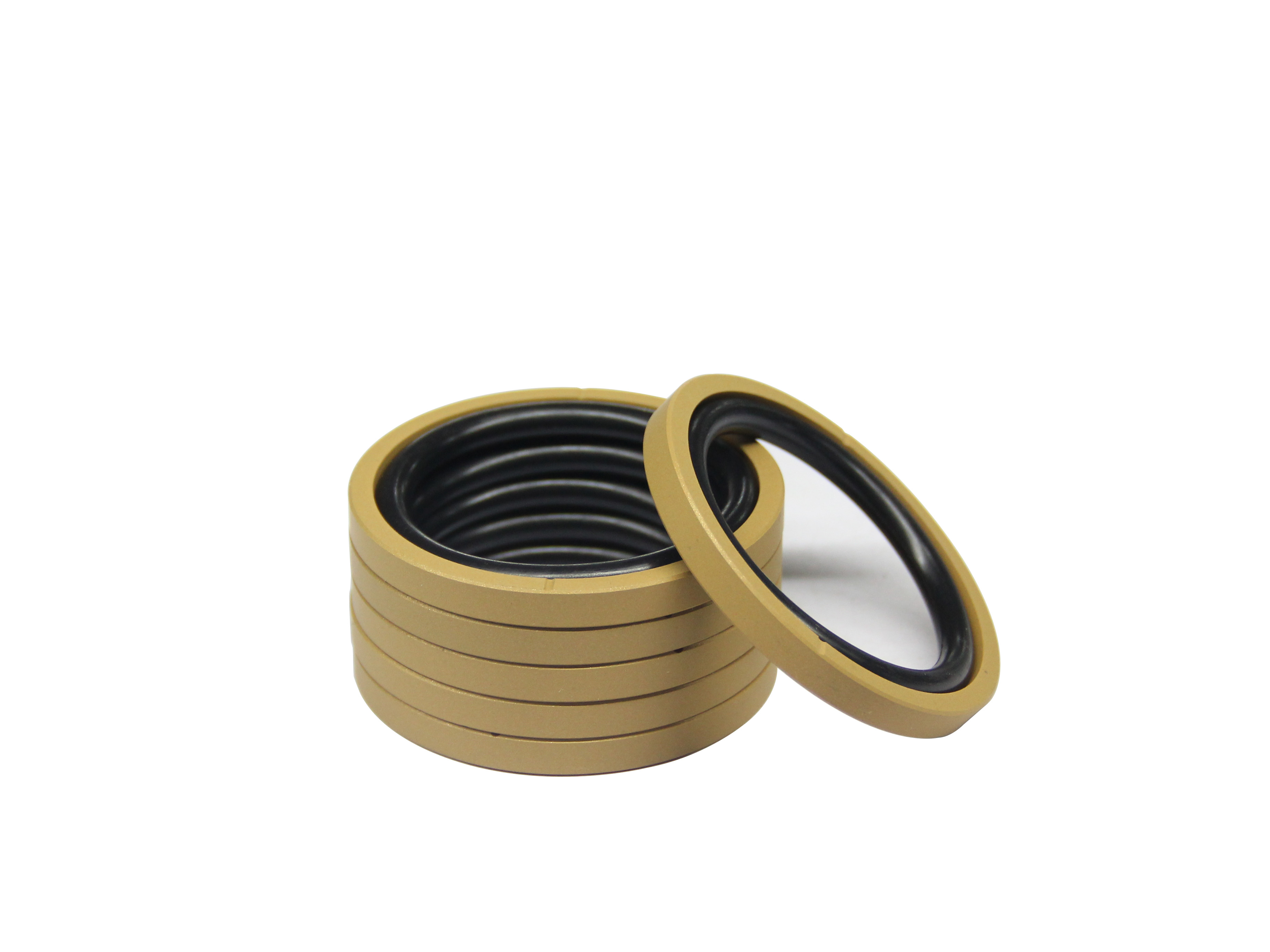Customized Size Dynamic Performance Low Friction Resistance PTFE NBR Black Glyd Ring