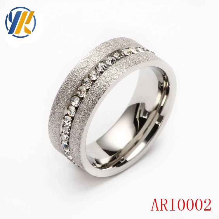 Titanium Ring Men Women Wedding Stainless Steel Engagement