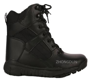 leather upper rubber sole military boot ZD116