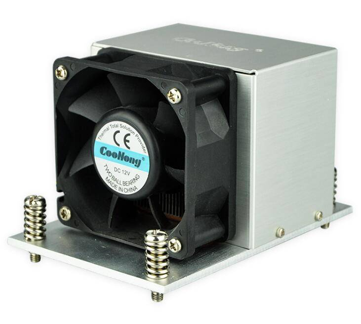 Rohs LGA 2011 square 65mm aluminum industrial heat sink