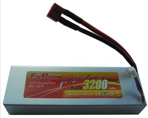 7.4V 3200mAh 20C RC car high power Li-Po battery pack