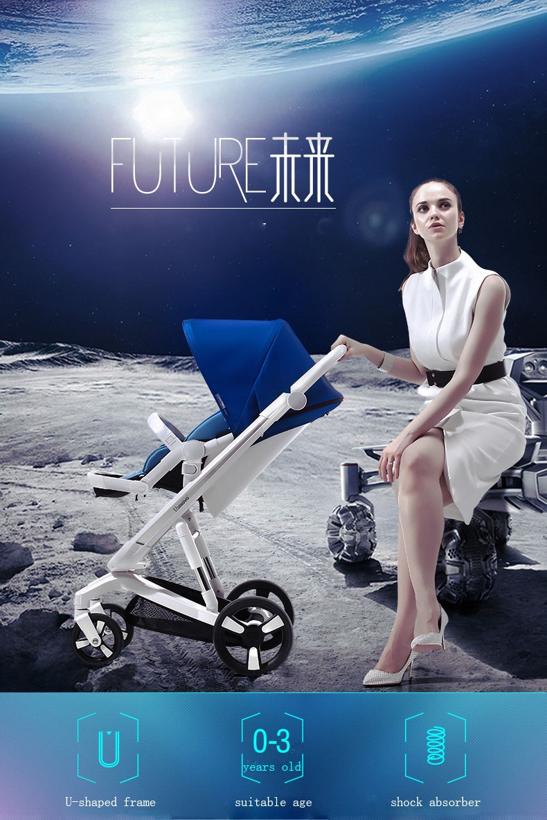 Material quality higher stroller type baby I-S035 FUTURE stroller buggy with aluminum alloy frame