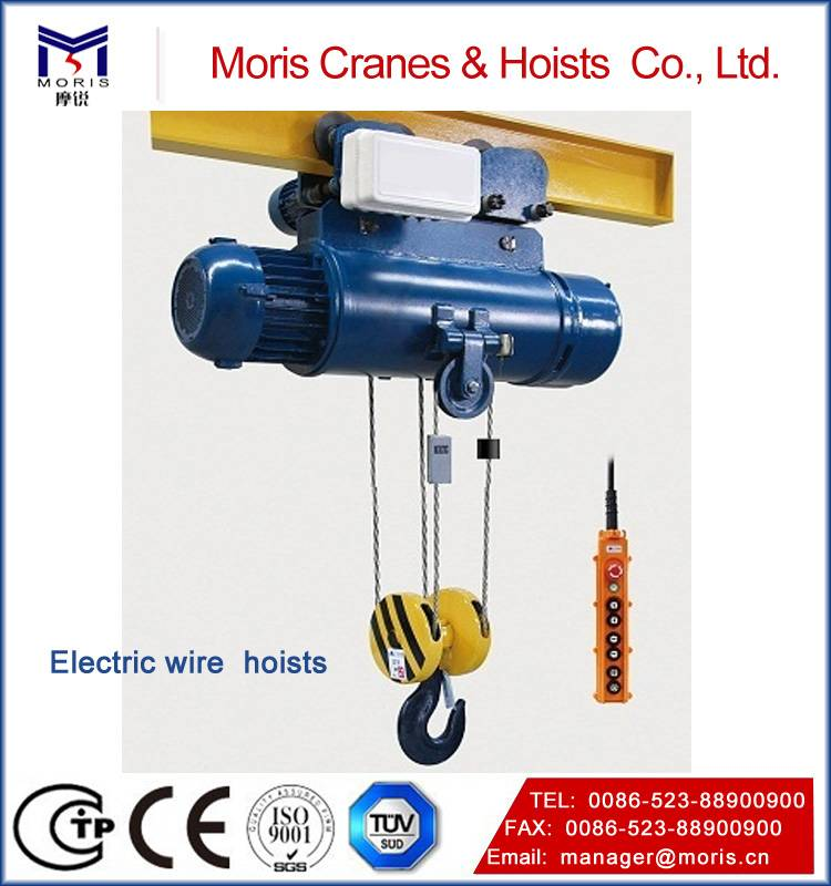 Electric wire rope hoist for various types cranes
