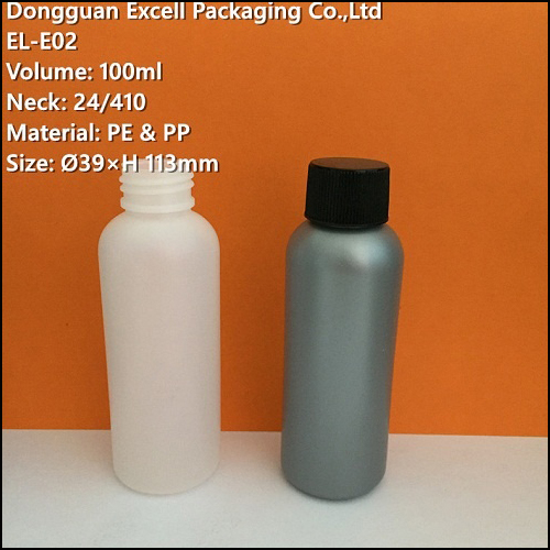 100ml PE Bottle for Liquid Makeup Packaging