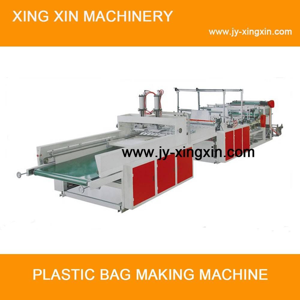 Square bottom bag making machine