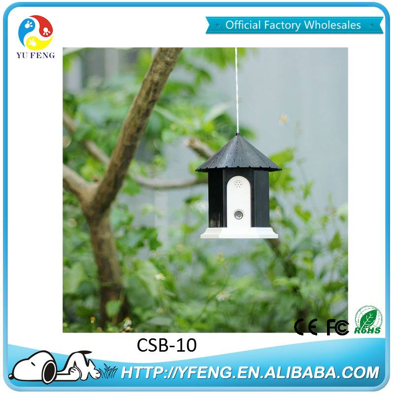 Official Factory 2 Colors High Quality Birdhouse Device with Ultrasonic Function Bark Control For Pe