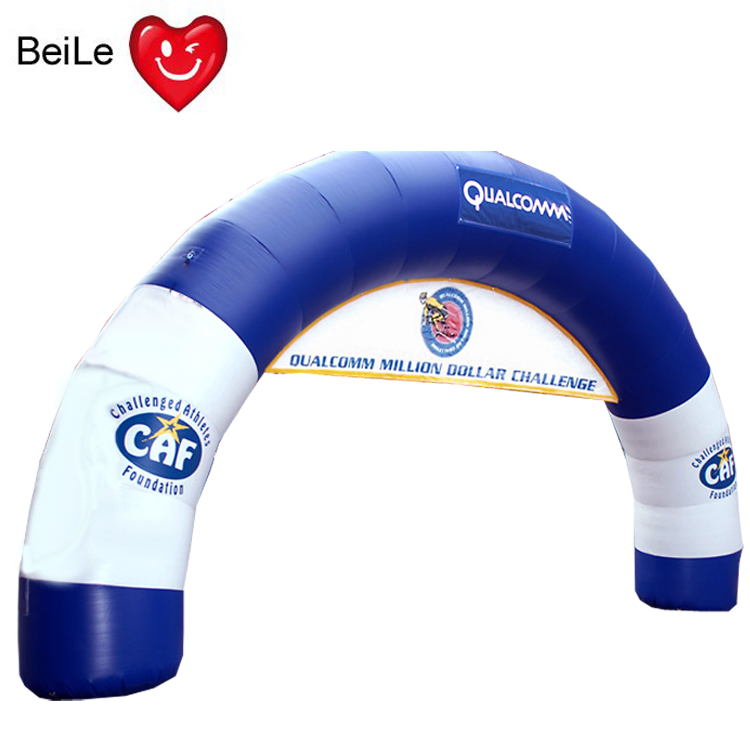 Promotional customized blue and white advertising inflatable arch
