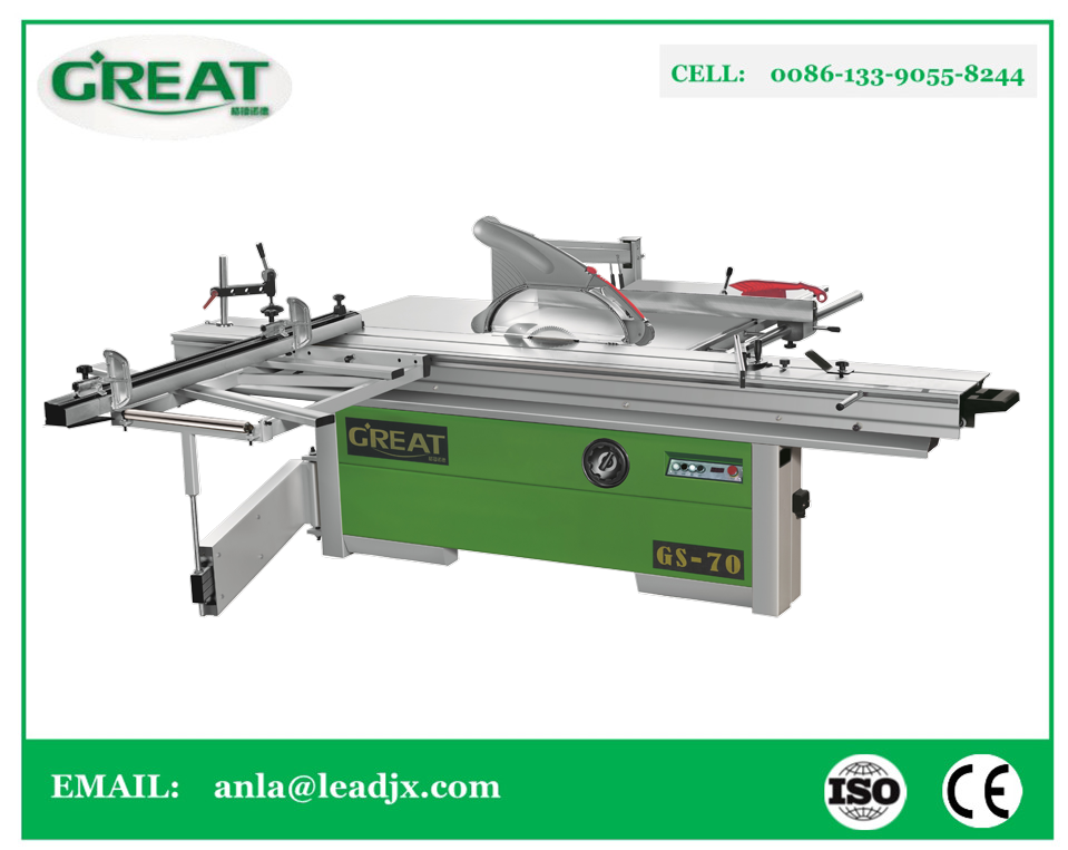 GS-70 3200mm Woodworking Sliding Table Saw panel furniture sawing machine with manual tilting saw