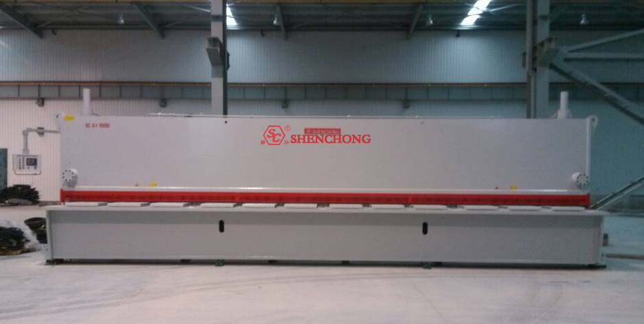 Hydraulic CNC guillotine shear machine 6mmx10000mm for metal fabrication