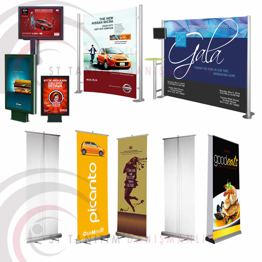 Roll up Banners, Flags