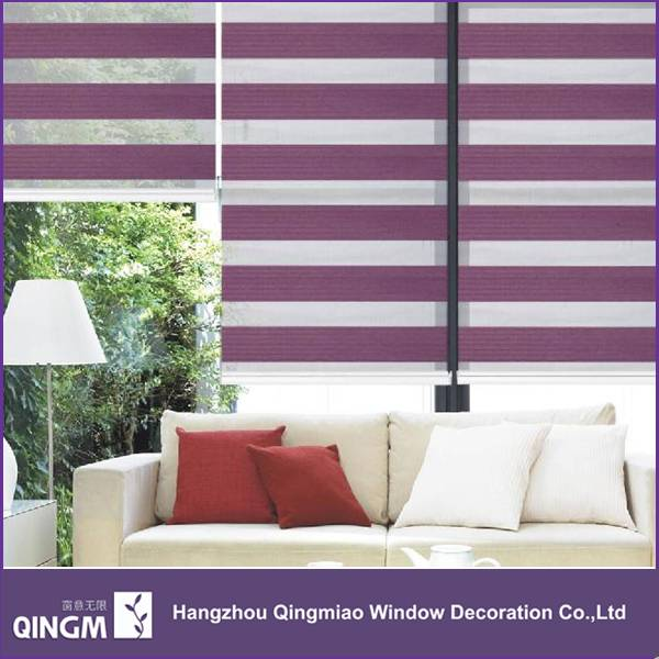 QINGM Best-selling Zebra Blind Window Curtain Finished 7-Folded Blinds