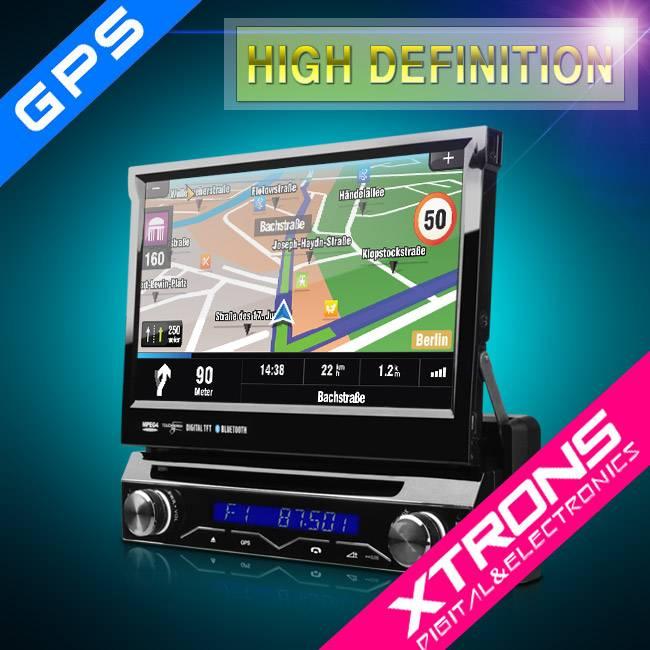 7inch Single Din Car Touch Screen Radio GPS Navigaion Bluetooth car auto radio DVDplayer with gps