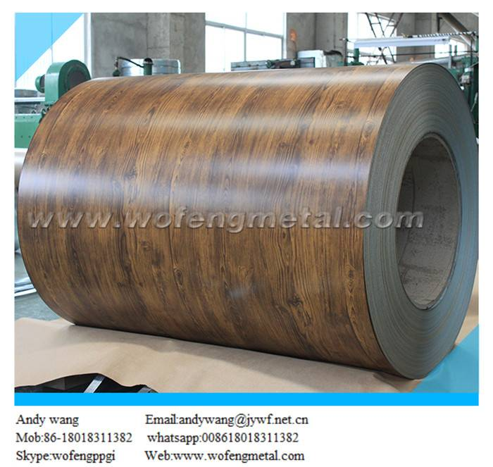 Color coated ppgi coil with wooden imitation