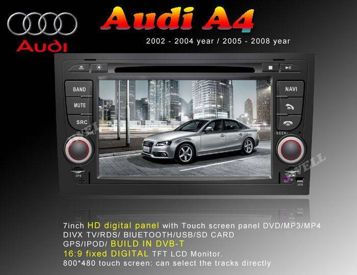 Car DVD Player with GPS for Audi A4