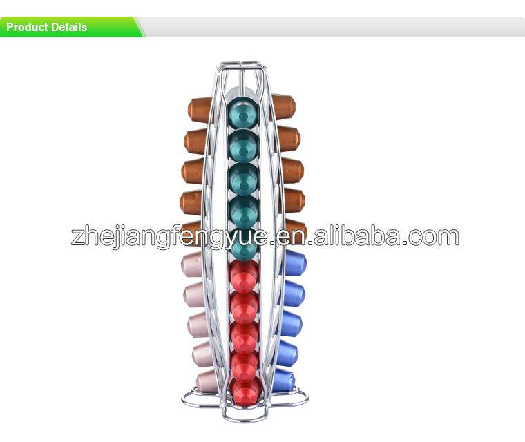 40 Capacity metal Nespresso capsule coffee holder