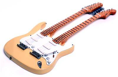Miniature Guitar Yngwie's Signature Double Neck