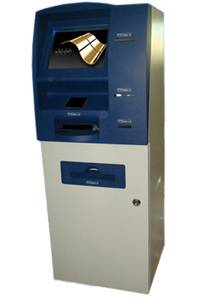 A6 Selfservice invoice and bank pass printing touch kiosk