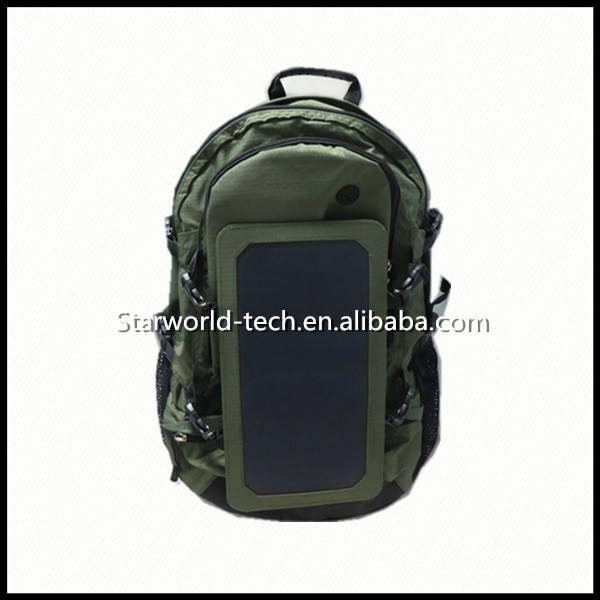 Solar Power Panel Charger Bag with 10000 mAh power bank